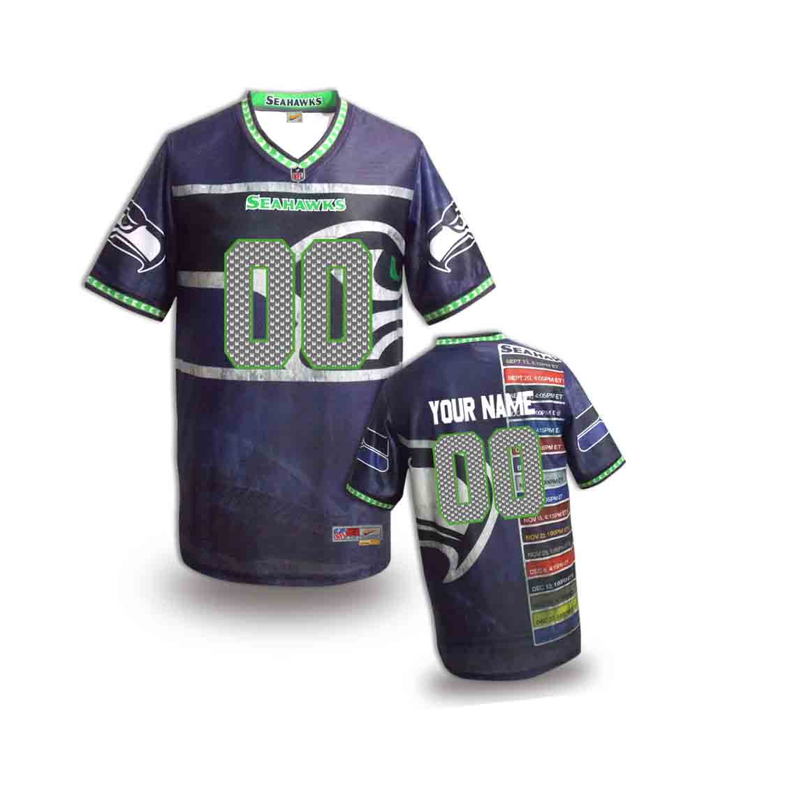 Nike Seahawks Customized Fashion Stitched Youth Jerseys11