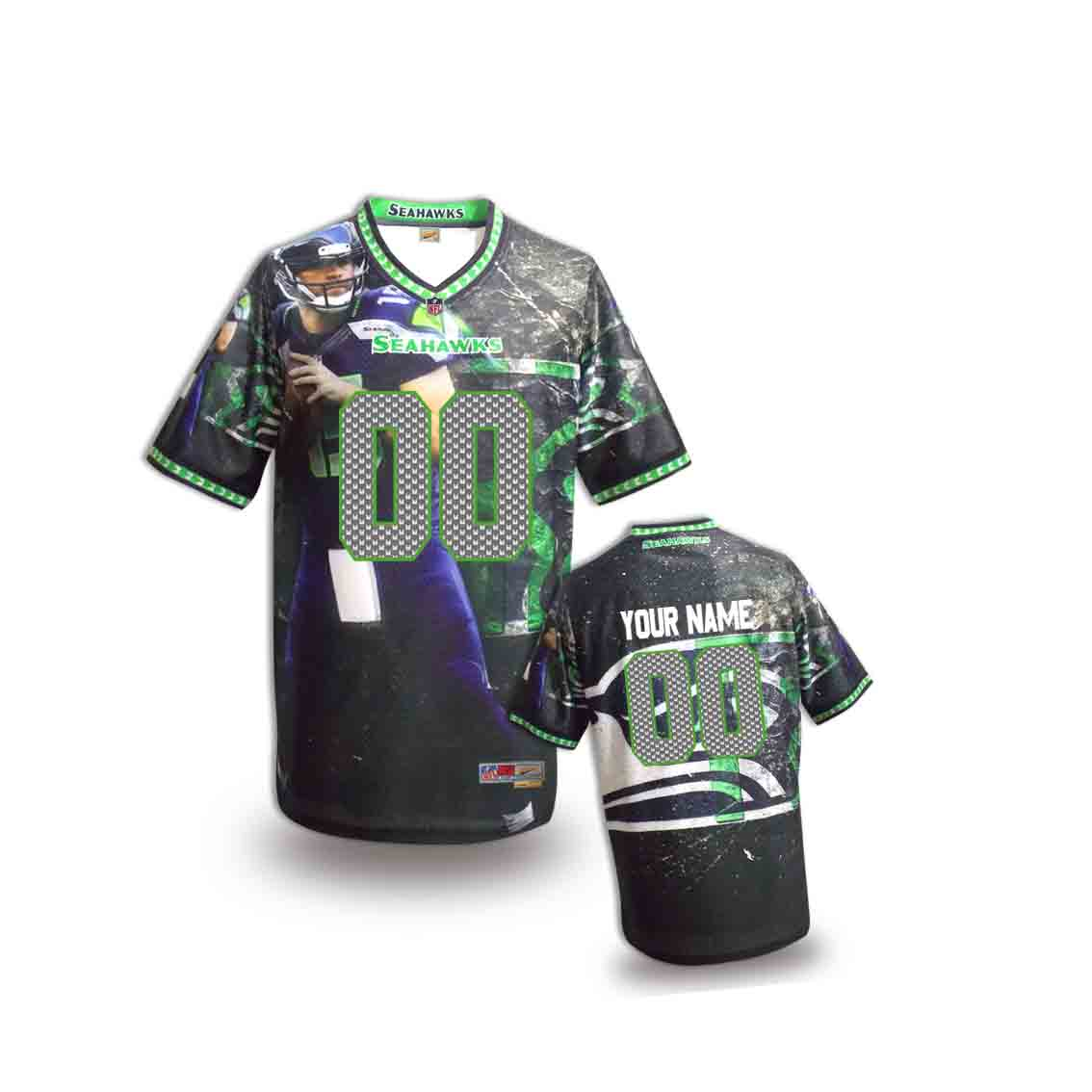 Nike Seahawks Customized Fashion Stitched Youth Jerseys12