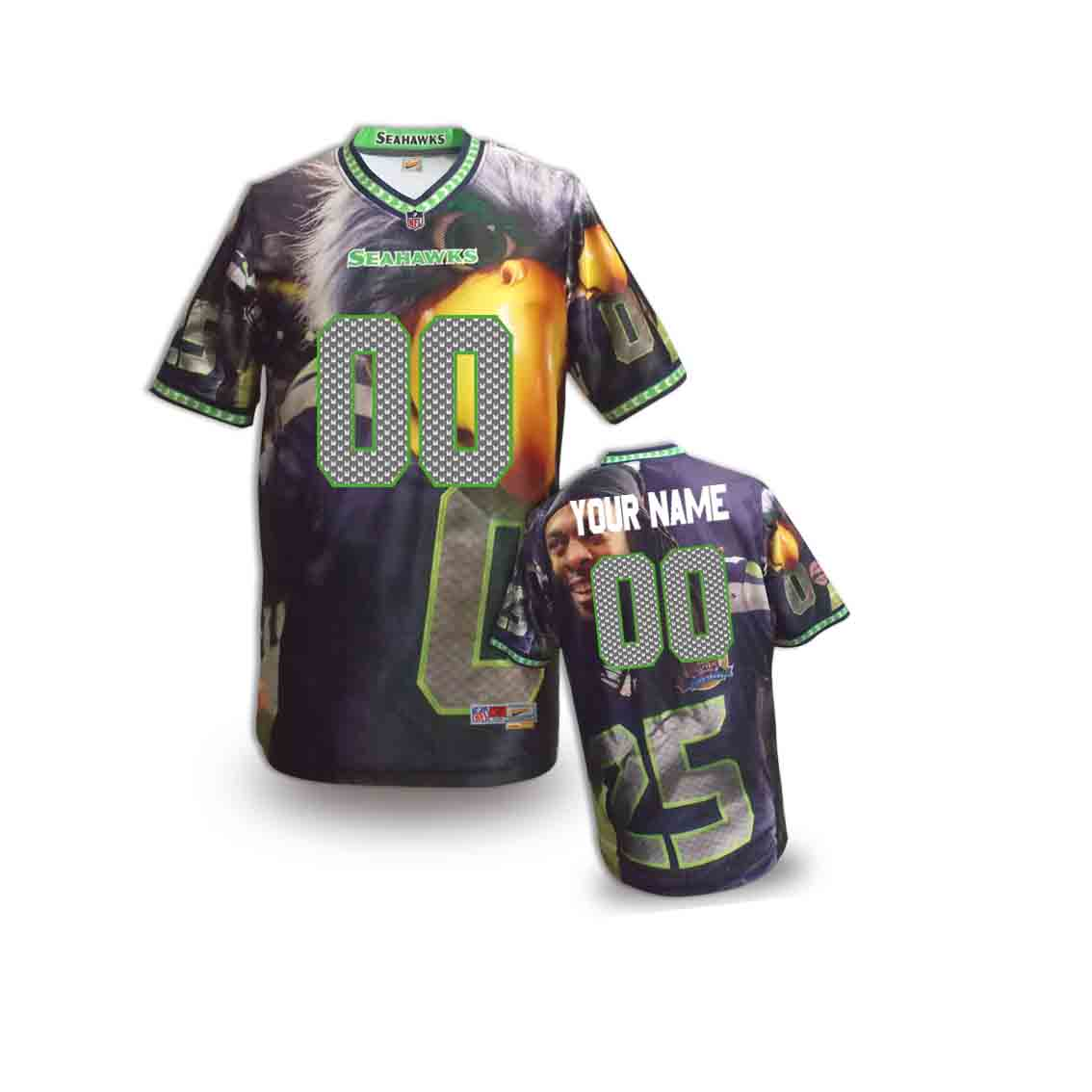 Nike Seahawks Customized Fashion Stitched Youth Jerseys14