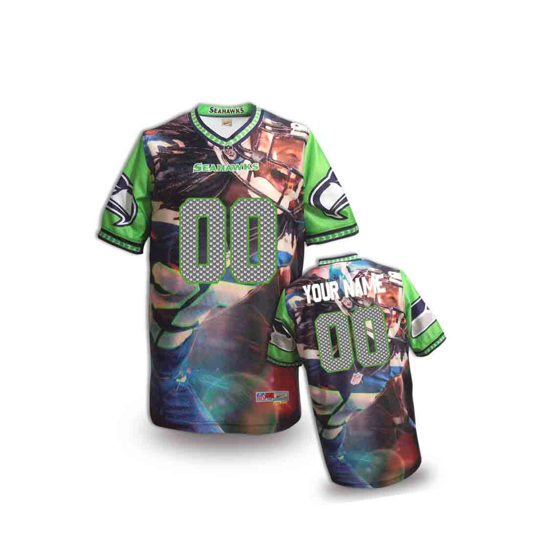 Nike Seahawks Customized Fashion Stitched Youth Jerseys16