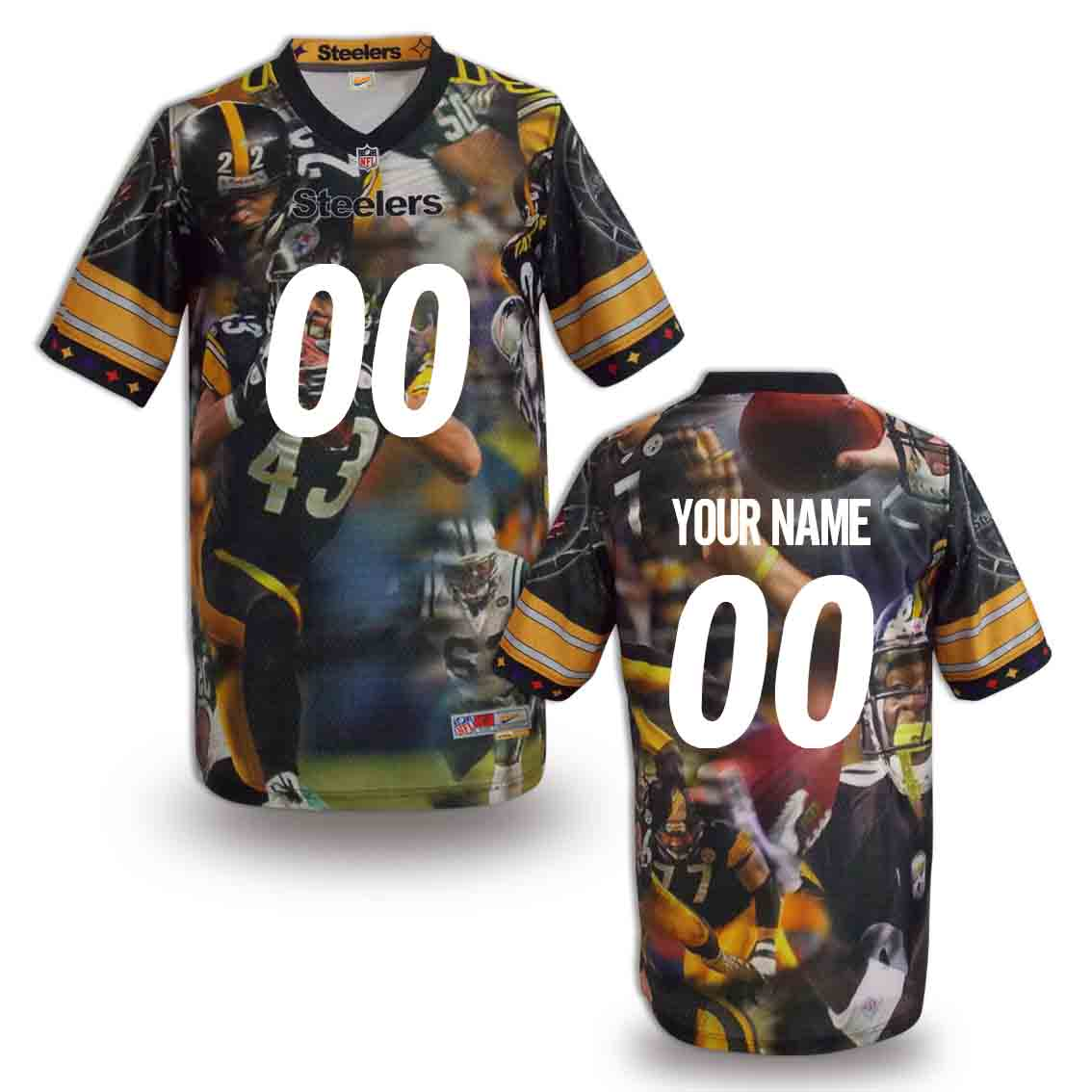 Nike Steelers Customized Fashion Stitched Jerseys02