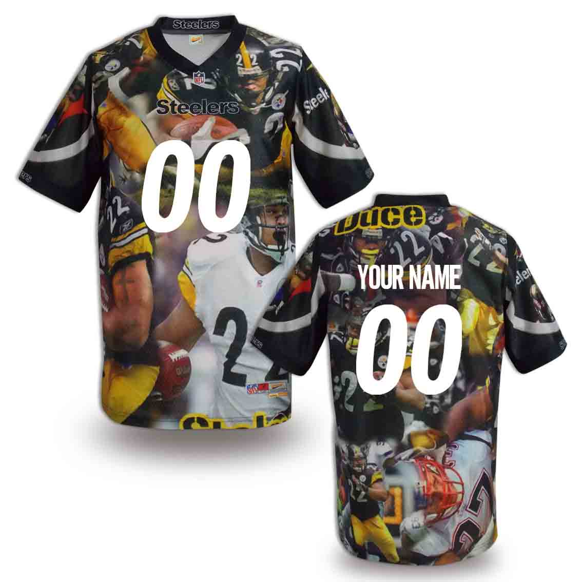 Nike Steelers Customized Fashion Stitched Jerseys04