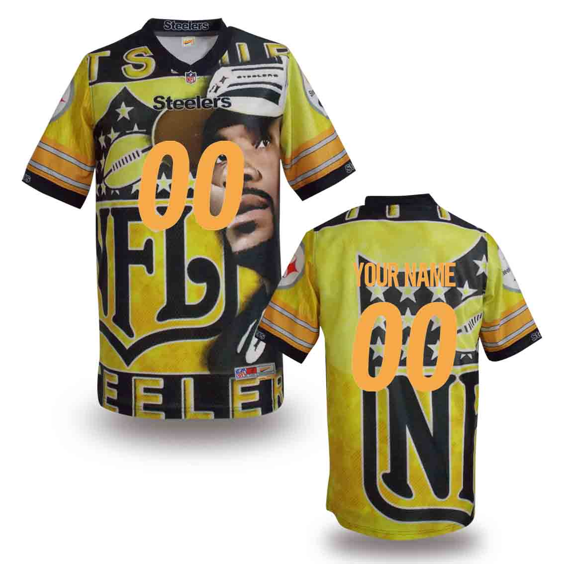 Nike Steelers Customized Fashion Stitched Jerseys06