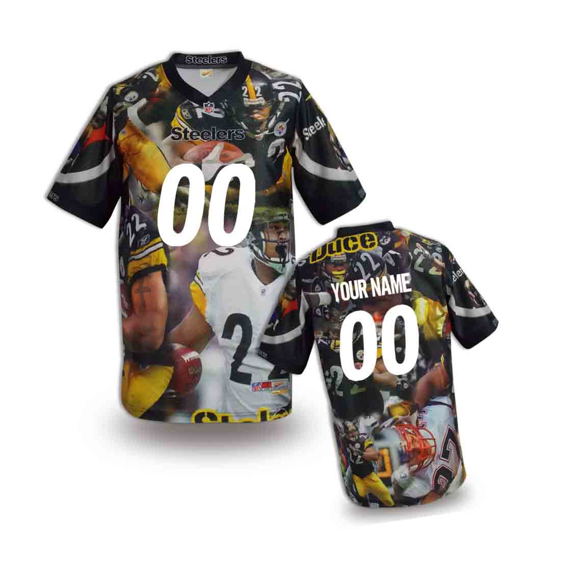Nike Steelers Customized Fashion Stitched Youth Jerseys07