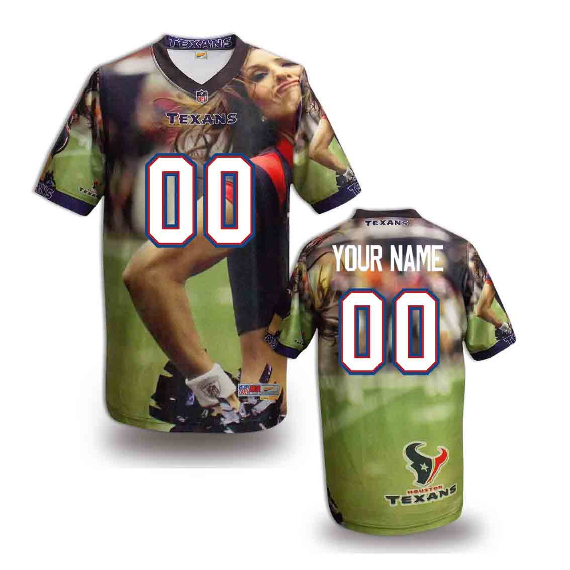 Nike Texans Customized Fashion Stitched Jerseys01