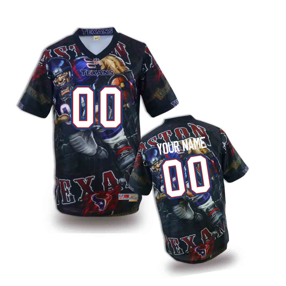 Nike Texans Customized Fashion Stitched Youth Jerseys01