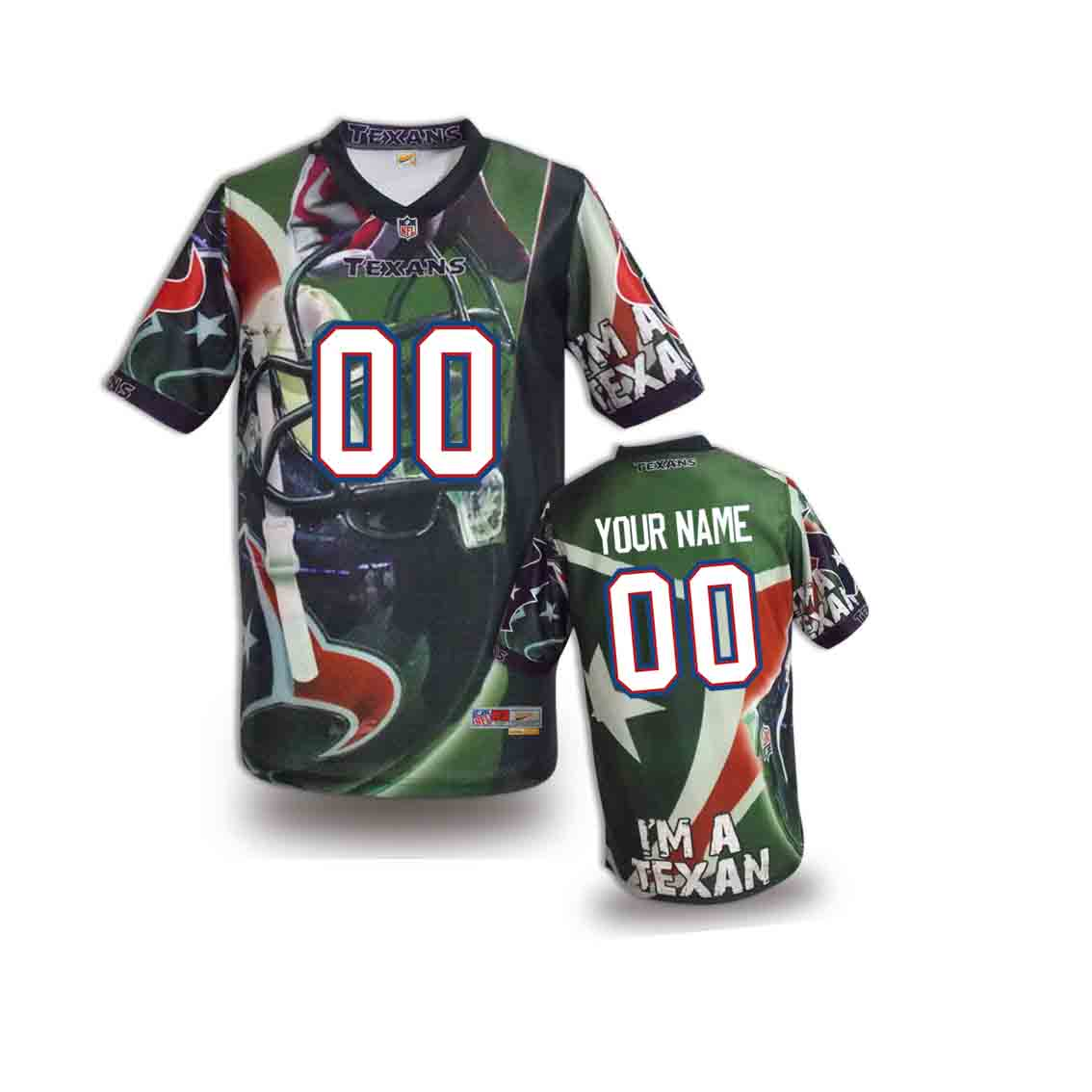 Nike Texans Customized Fashion Stitched Youth Jerseys02