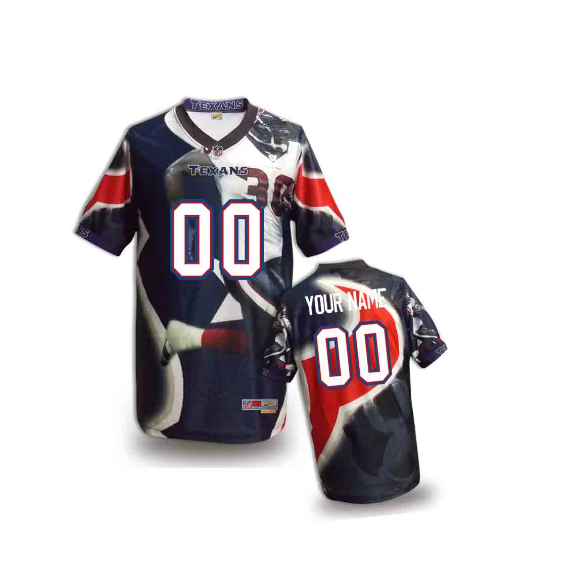 Nike Texans Customized Fashion Stitched Youth Jerseys03