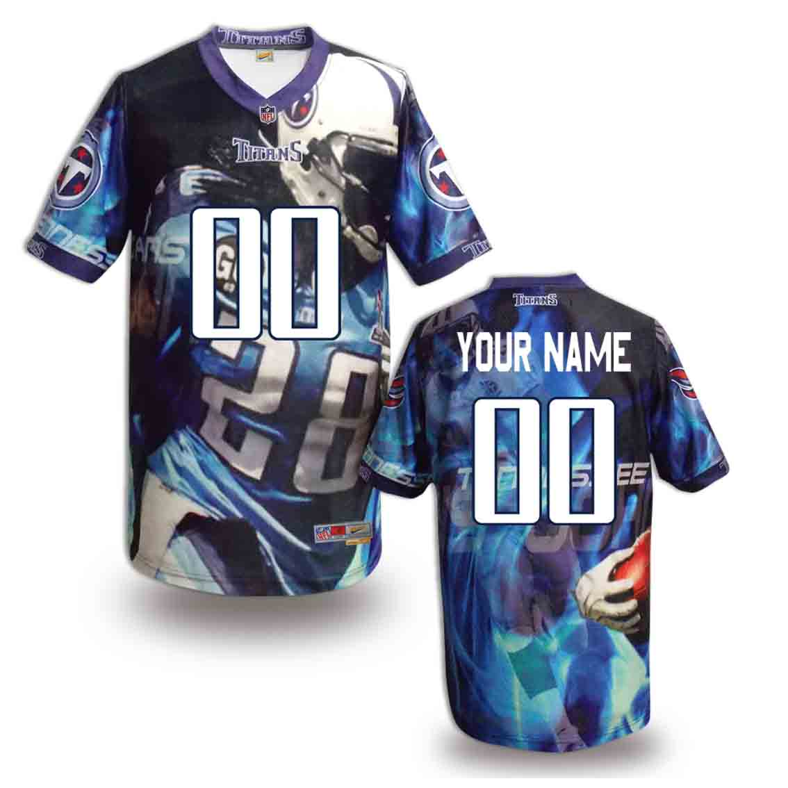 Nike Titans Customized Fashion Stitched Jerseys02