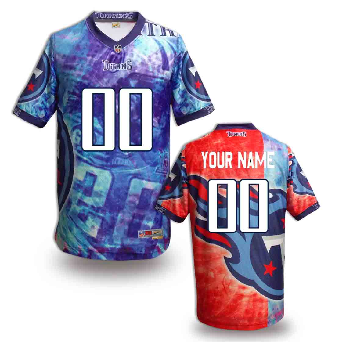 Nike Titans Customized Fashion Stitched Jerseys03