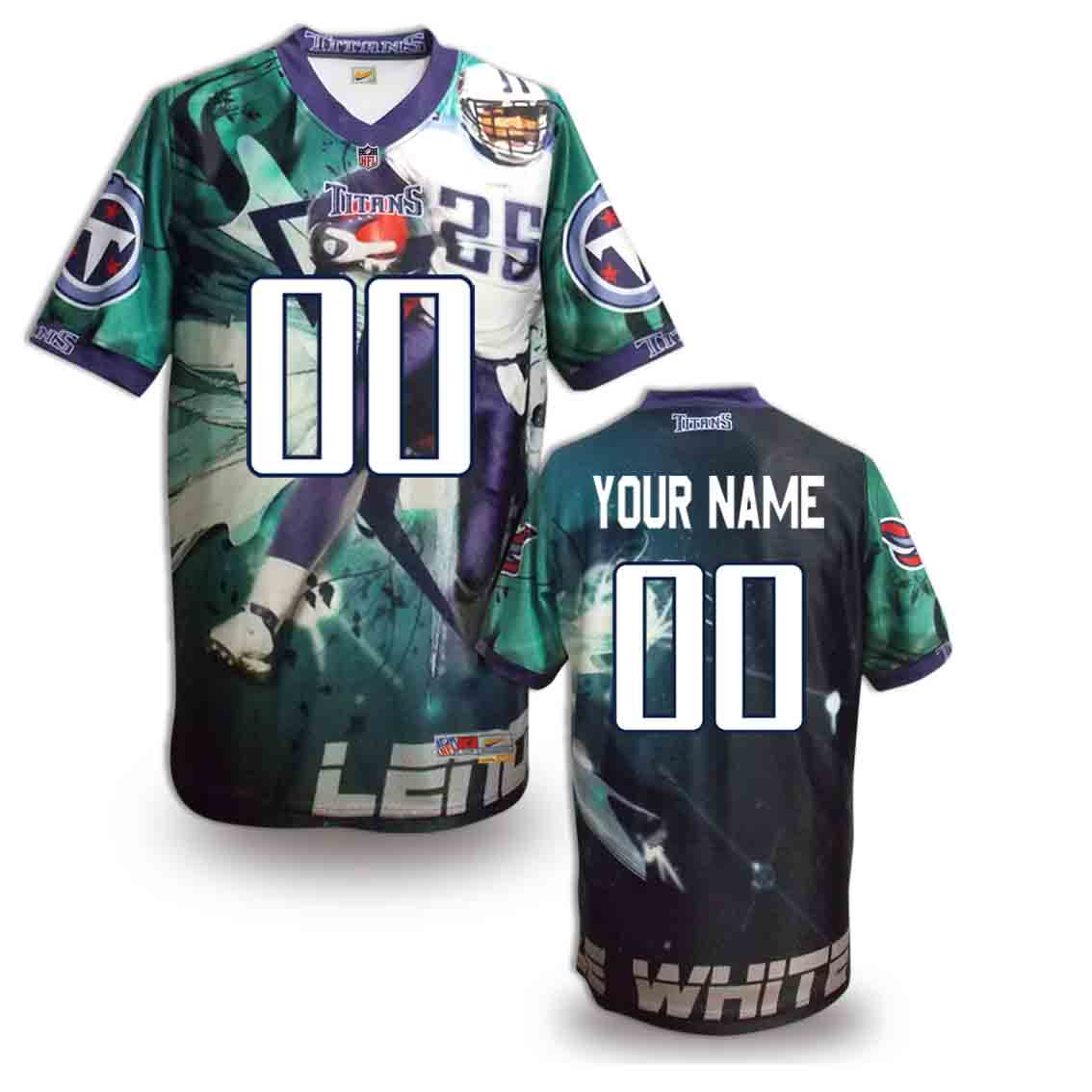 Nike Titans Customized Fashion Stitched Jerseys06