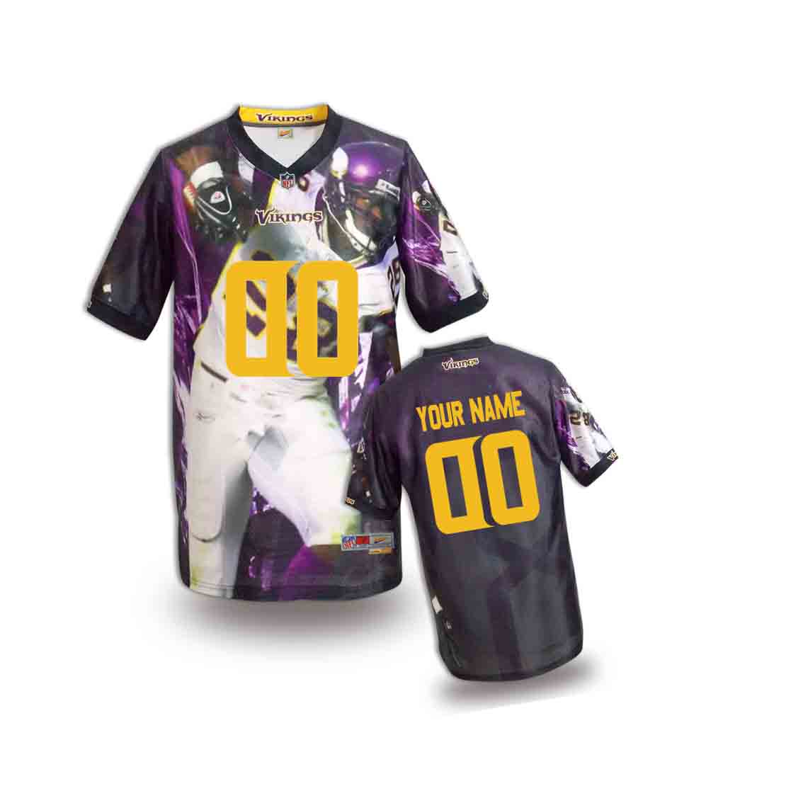Nike Vikings Customized Fashion Stitched Youth Jerseys03