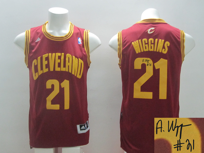 Cavaliers 21 Wiggins Red Revolution 30 Signature Edition Jerseys