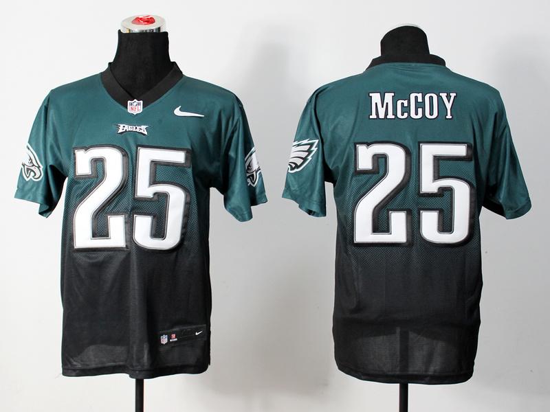Nike Eagles 25 McCoy Green And Black Drift Fashion II Elite Jerseys
