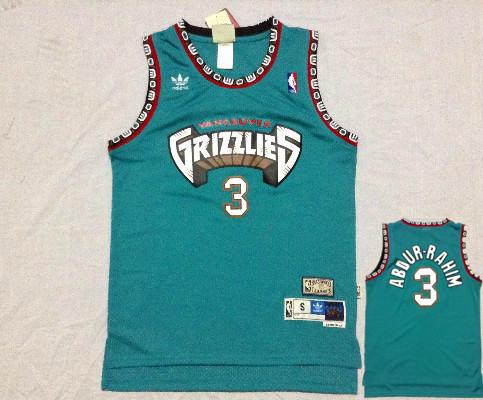 Grizzlies 3 Abdur Rahim Teal Hardwood Classics Jerseys