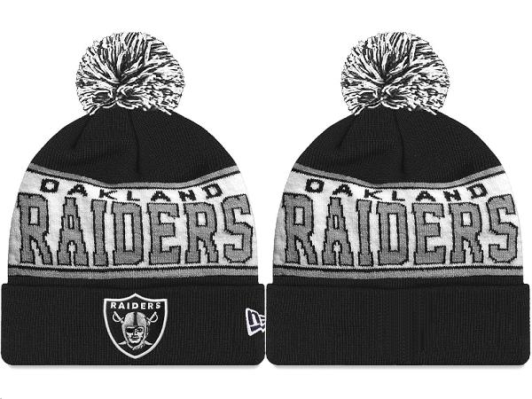 Raiders Black Fashion Knit Hat XDF