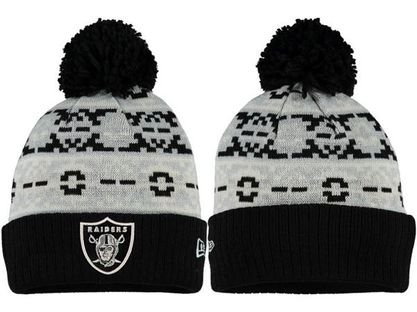 Raiders Grey Fashion Knit Hat XDF