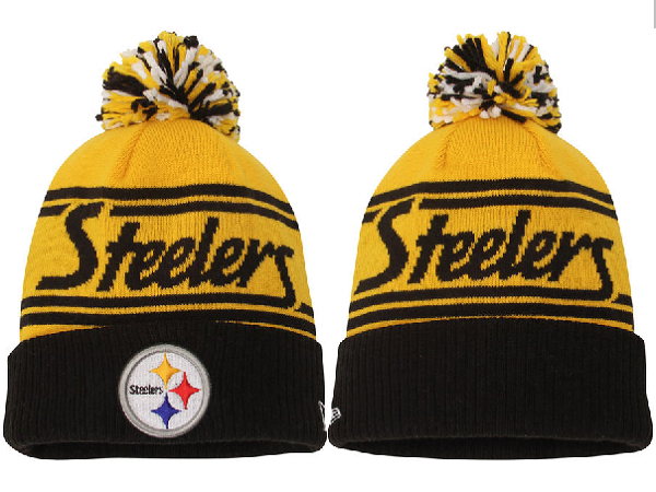 Steelers Yellow Fashion Knit Hat XDF