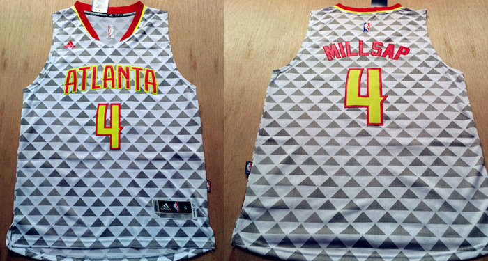 Hawks 4 Paul Millsap White Swingman Jersey