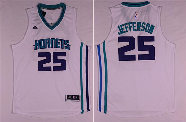 Hornets 25 Al Jefferson White Swingman Jersey