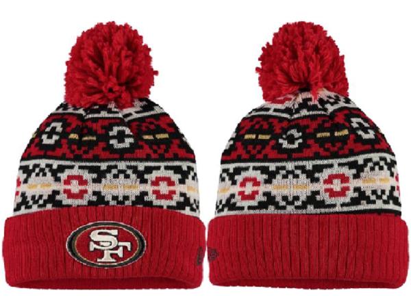 49ers Team Logo Fashion Knit Hat XDF