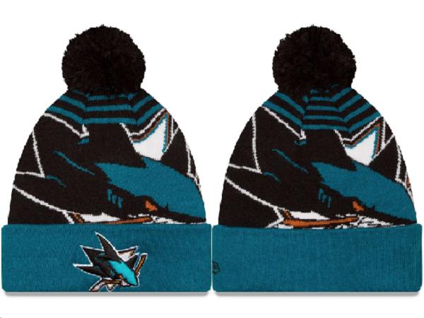 Sharks Team Logo Fashion Knit Hat XDF