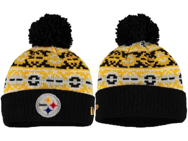 Steelers Team Logo Fashion Knit Hat XDF