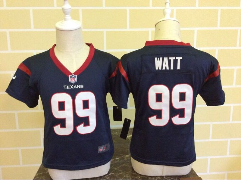 Nike Texans 99 J.J. Watt Blue Toddler Game Jersey