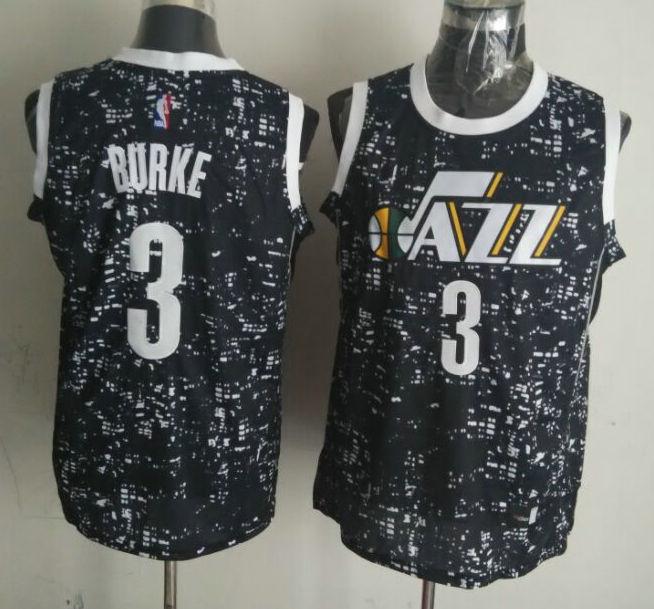 Jazz 3 Trey Burke Black City Luminous Jersey