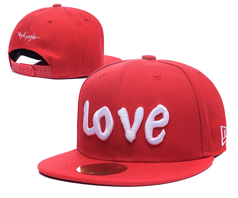 Love Red Adjustable Kid Cap