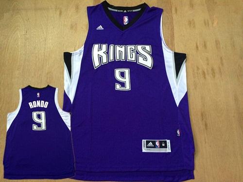 Kings 9 Rajon Rondo Purple Swingman Jersey