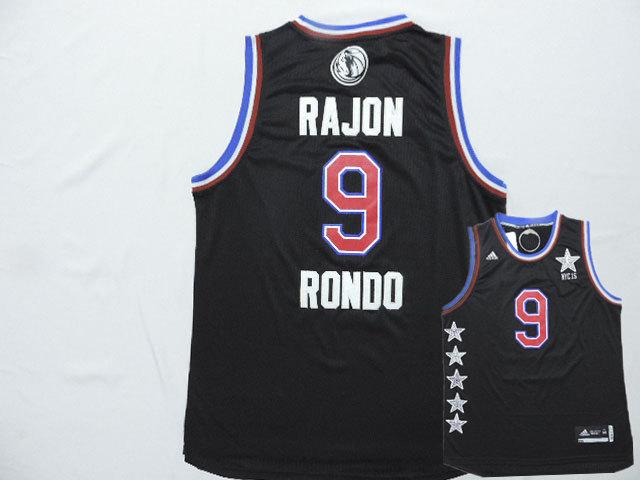 2015 NBA All Star NYC Western Conference 35 Rajon Rondo Black Jerseys