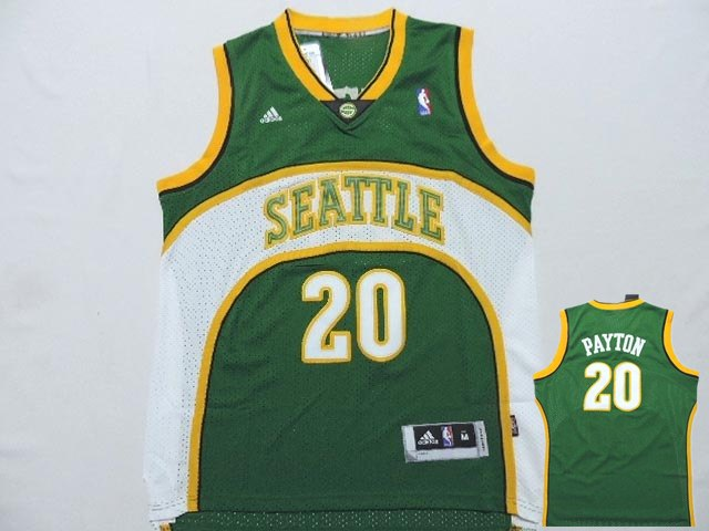 Supersonics 20 Payton Green New Revolution 30 Jerseys