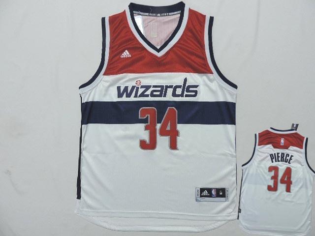 Wizards 34 Pierce White New Revolution 30 Jerseys