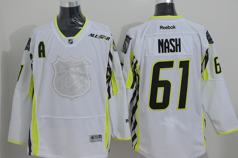 Rangers 61 Nash White 2015 All Star Jersey
