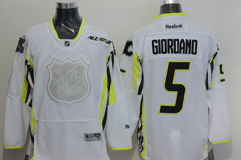 Flames 5 Giordano White 2015 All Star Jersey