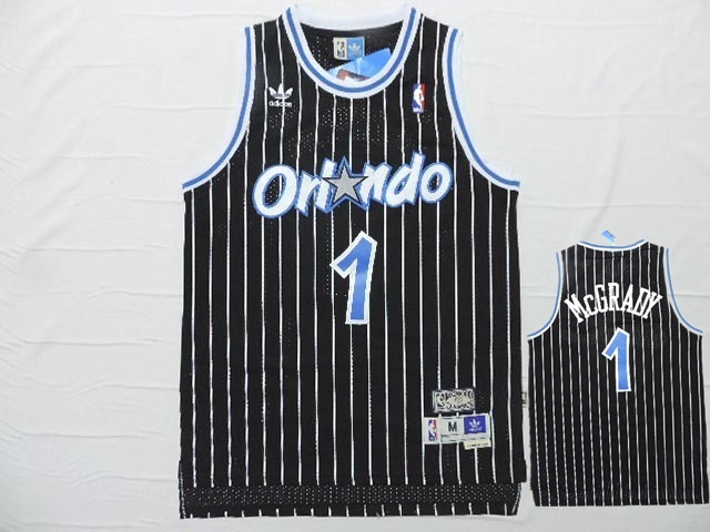 Magic 1 McGrady Black Hardwood Classics Jersey