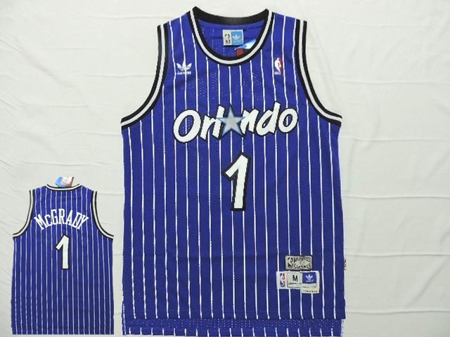 Magic 1 McGrady Blue Hardwood Classics Jersey