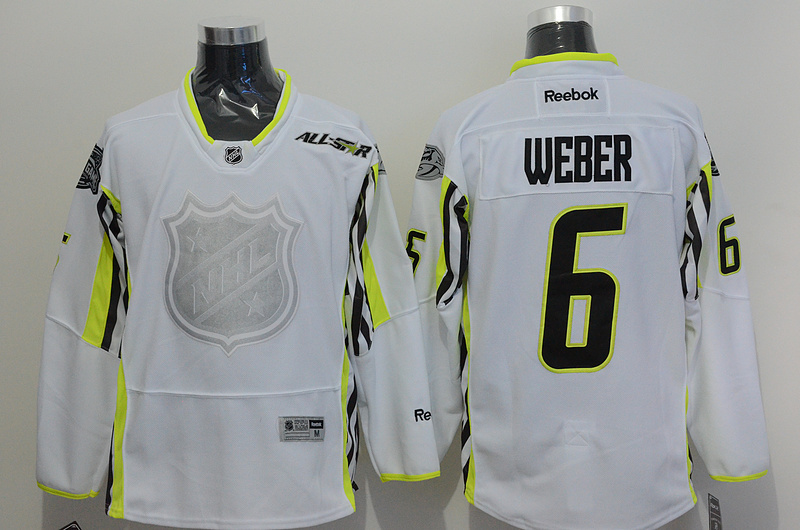 Predators 6 Weber White 2015 All Star Jersey