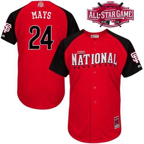 National League Giants 24 Mays Red 2015 All Star Jersey