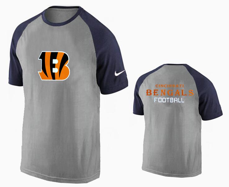 Nike Cincinnati Bengals Ash Tri Big Play Raglan T Shirt Grey2