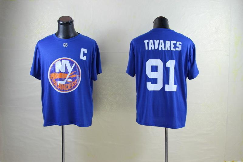 Islanders 91 Tavares Blue Name & Number T Shirt