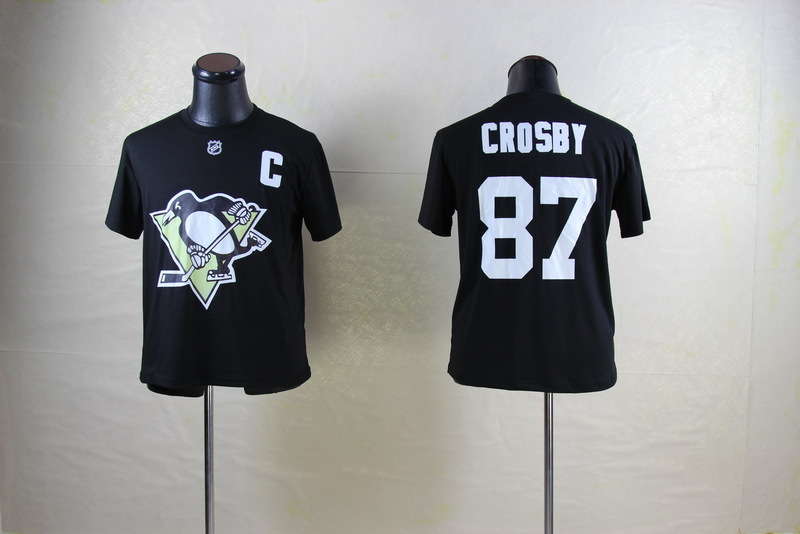 Penguins 87 Crosby Black Name & Number T Shirt