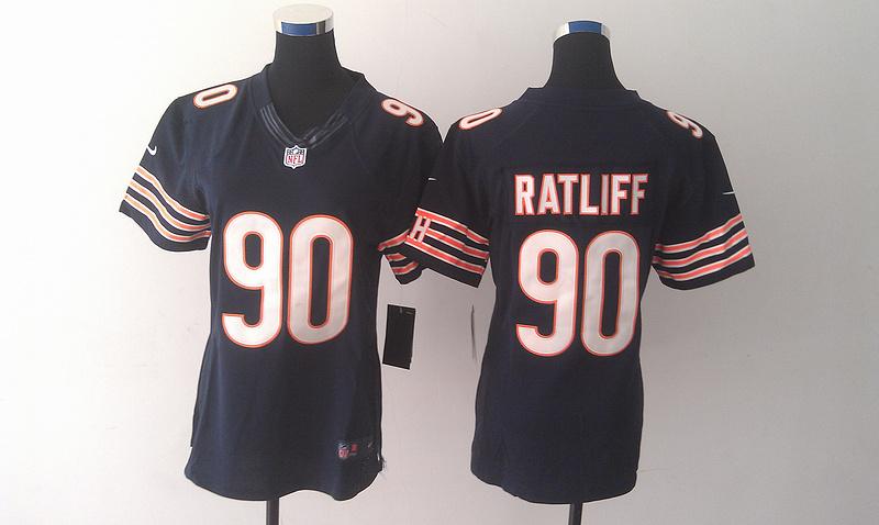 Nike Bears 90 Jeremiah Ratliff Blue Limited Women Jersey