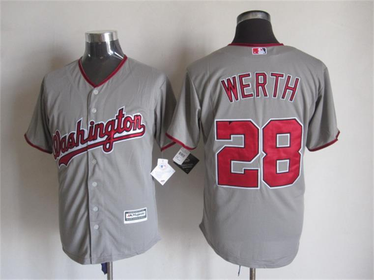 Nationals 28 Jayson Werth Grey New Cool Base Jersey