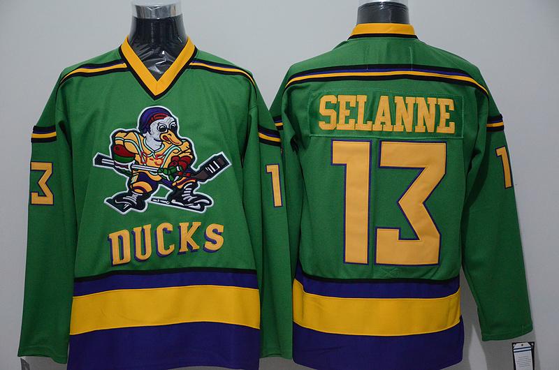Ducks 13 Teemu Selanne Green CCM Jersey
