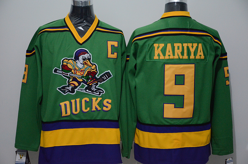 Ducks 9 Paul Kariya Green CCM Jersey