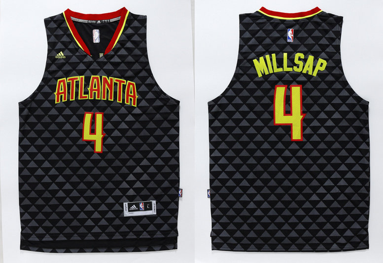 Hawks 4 Paul Millsap Black Swingman Jersey