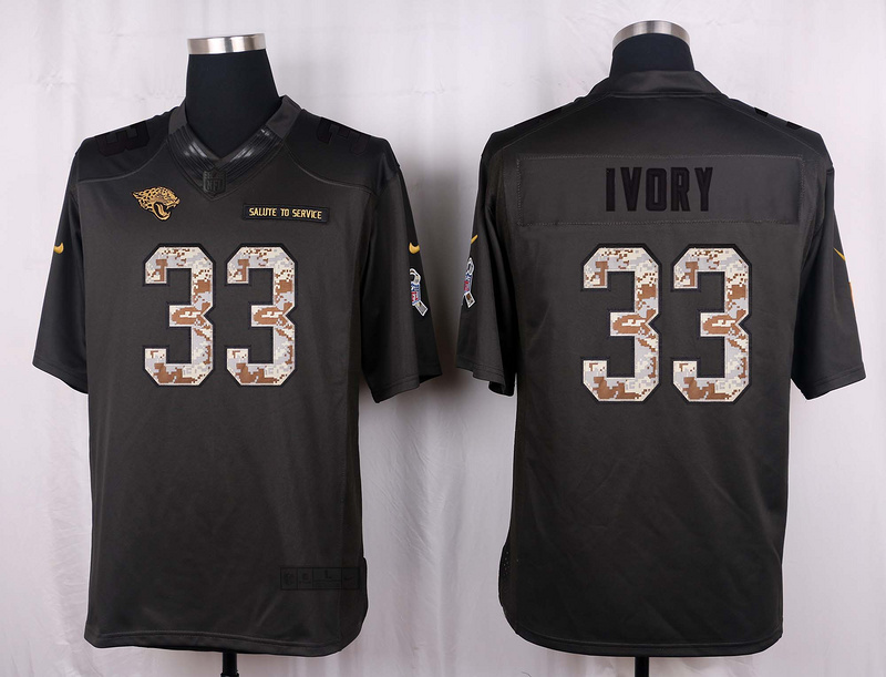 Nike Jaguars 33 Chris Ivory Anthracite Salute to Service Limited Jersey