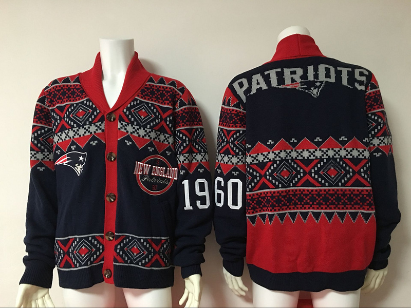 New England Patriots NFL Adult Ugly Cardigan Sweater